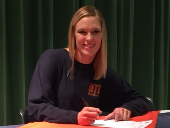 Breanna Boggs, of Houston County High School, signs