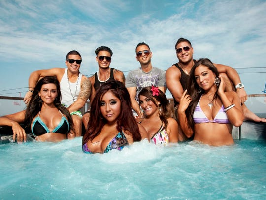 "The raucous cast of ""Jersey Shore,"" in a promo shot for the reality show's second season."