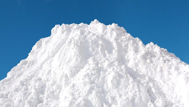 Snow pile.