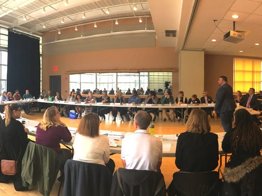 Union County Freeholder Chairman Sergio Granados, joined by Freeholders Alexander Mirabella and Bruce Bergen, welcomed roundtable facilitator Christian Fuscarino, executive director of Garden State Equality, and over 40 participants representing more than 20 LGBTQ advocacy and ally organizations that serve Union County and New Jersey to the 2018 LGBTQ Roundtable to discuss LGBTQ-related programs, services, issues and priorities for 2018.