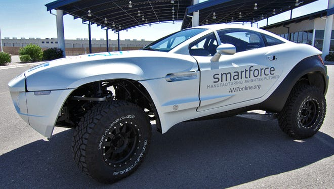 The Smartforce Local Motors Rally Fighter will be displayed during the MFG Day open house, 5-:30-7 p.m. Thursday, at Ivy Tech Community College in Richmond.
