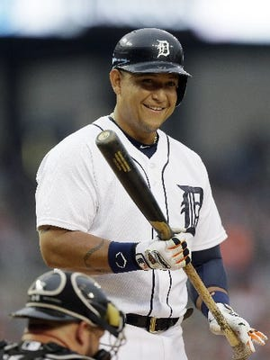 Miguel Cabrera couldn't play in the All-Star Game because of an injury.
