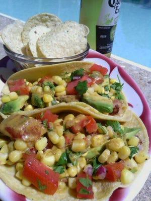 Blackened Tuna Tacos with Chipotle Vinaigrette