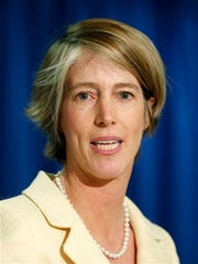 Democratic candidate for governor Zephyr Teachout speaks during a news conference on Monday, June 16, 2014, in Albany, N.Y.  Teachout, a liberal New York law professor,  formally announced her primary campaign against Gov. Andrew Cuomo, saying he is too focused on his own ambitions and the interests of wealthy donors. (AP Photo/Mike Groll)