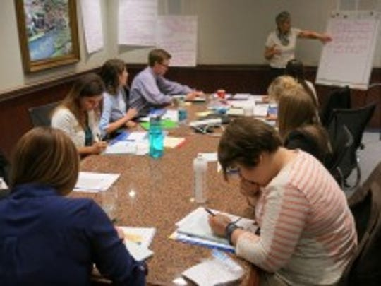 COP 20 Student Team hard at work at ACS National Headquarters in Washington, DC.
