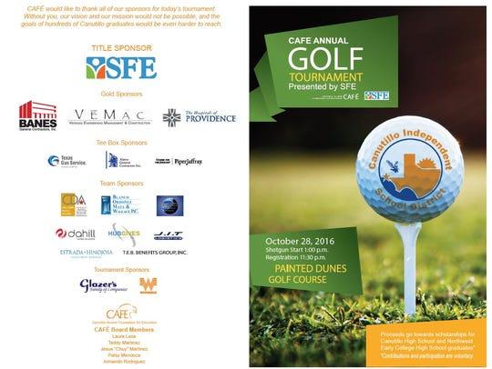 The brochure for the Canutillo Alumni Foundation for