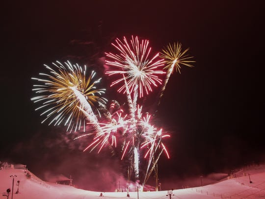 Fireworks are part of the New Year's Eve celebration