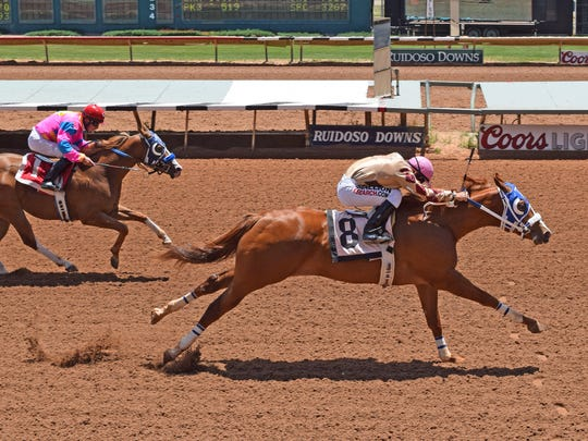 Jockey Ricky Ramirez qualified Tough to Bee And four other horse for the Ruidoso Futurity.