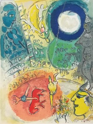 One of the eight prints by 20th-century artist Marc Chagall acquired by Rahr-West Art Museum from Christie's Auction House in New York.
