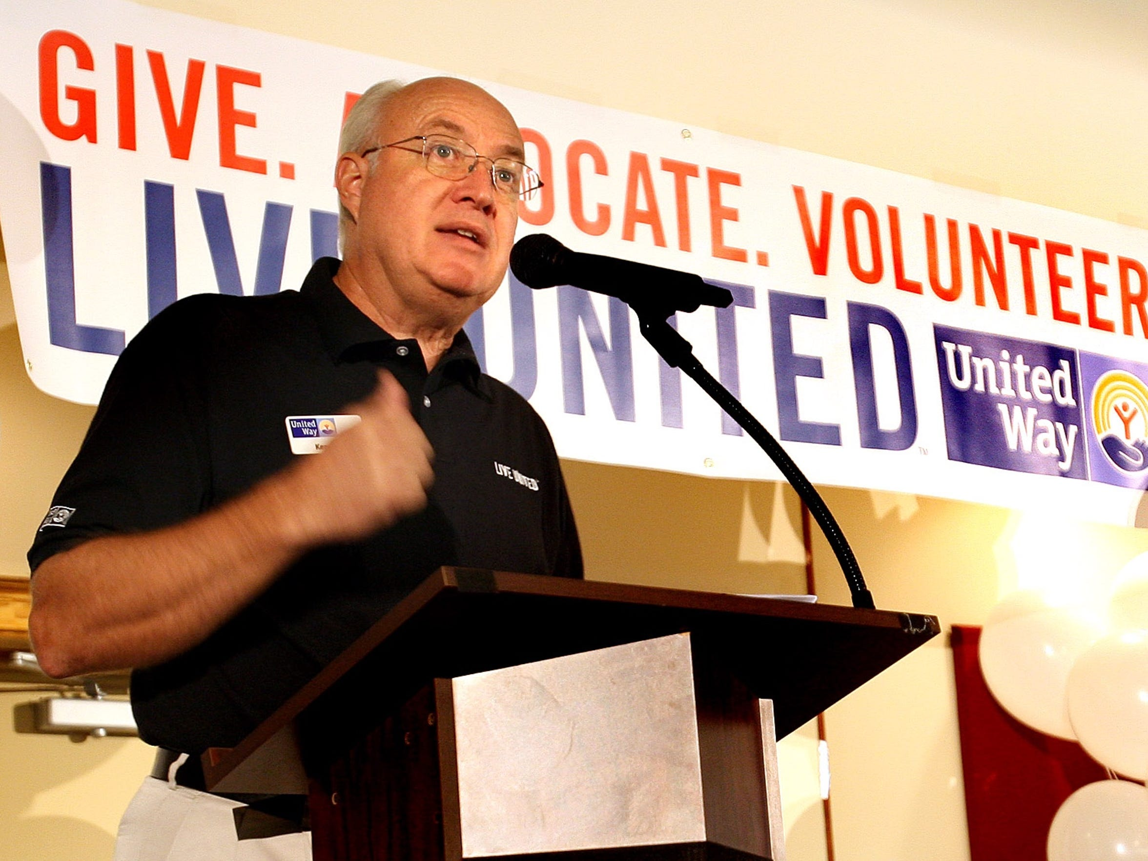 Ken Armstrong, former president of United Way of the