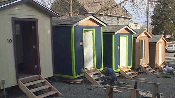 A new tiny house village for the homeless is set to open in Seattle.