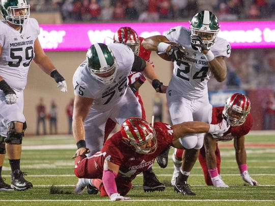 MSU junior running back Gerald Holmes has become MSU's primary ball-carrier the last couple of weeks. He's averaging 5.0 yards per carry this season.