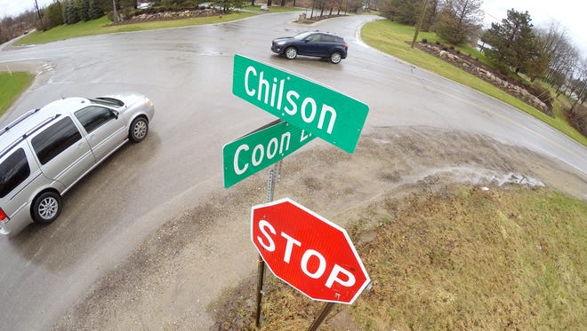 A roundabout will be installed in the intersection of Chilson Road and Coon Lake Road in Genoa Township.