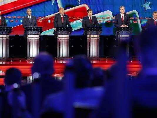 Marco Rubio, Ben Carson, Donald Trump, Ted Cruz, Jeb Bush, Chris Christie