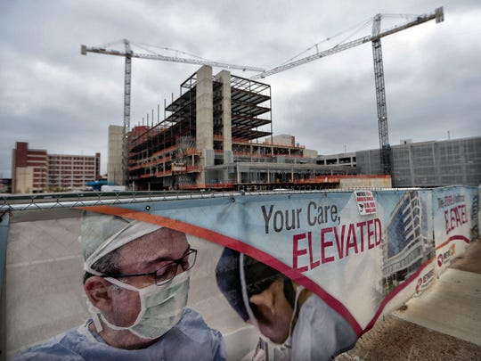 Construction continues on the new tower at Methodist University Hospital. Touting what they call one of the most transformative projects the Medical District has ever seen, Methodist University Hospital officials say they've reached the halfway point in constructing a $275 million tower.