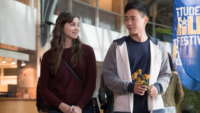 """This image released by STX Films shows Hailee Steinfeld, left, and Hayden Szeto in a scene from """"The Edge of Seventeen."""""""