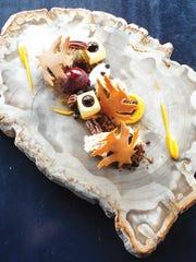 """Fall forest"" sweet potato dessert from chef Dave Baran"