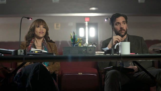Rosie Perez, left, and Josh Radnor star in NBC's 'Rise.'