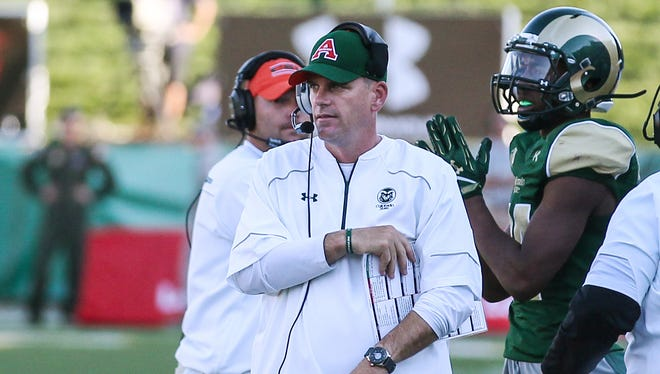 CSU coach Mike Bobo, shown during a game against Minnesota last season, opened the doors of his program to high school coaches in the region for a clinic this weekend.