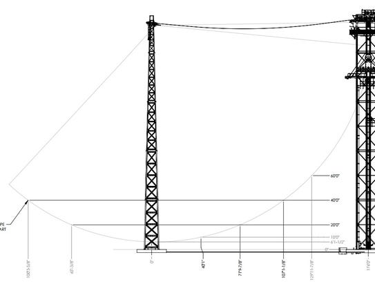 A schematic for a new ride planned by the developer