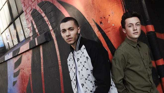 Kalin White, left, and Myles Parrish of Bay Area duo Kalin and Myles.