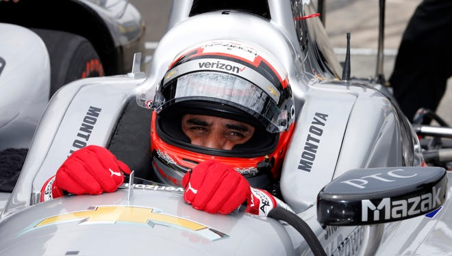 Juan Pablo Montoya during practice for the 2016 Indianapolis 500.