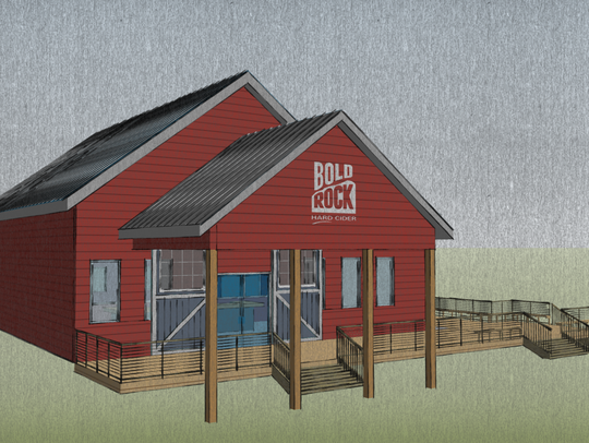 A rendering of what the new Barrel Barn will look like