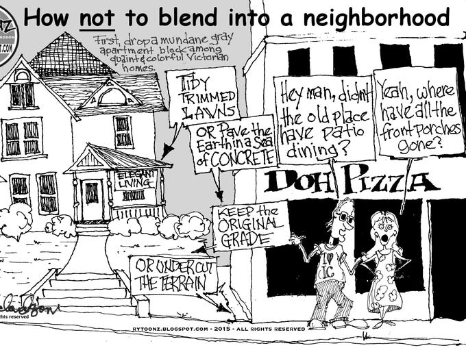 How not to blend into a neighborhood