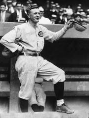 Christy Mathewson, the former New York Giants pitching great who managed the Reds from 1916-1918, was a victim of a poison-gas training accident in France during World War I.