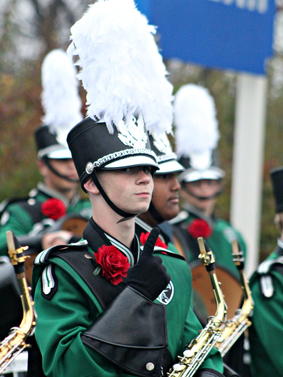 West Deptford High School Eagle Marching Band saxophone