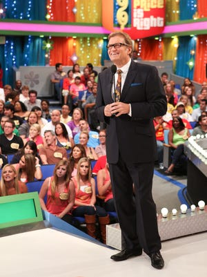 Drew Carey on the set of 'The Price is Right' in 2011.