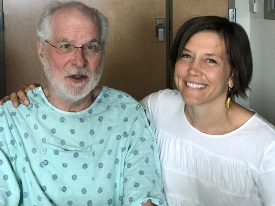 Al Morkunas with his niece Erin Mendenhall while undergoing treatment at Richmond's VCU Health in June 2017. This would be the last time Mendenhall would see her uncle, who passed away Aug. 8, 2017.