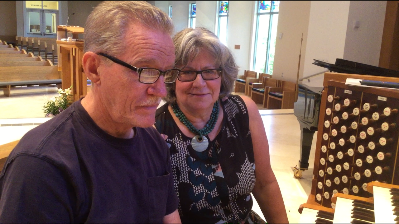 Two organists in the Many Moorings Organists concert Sunday April 15, are performing something entirely different: a duet for feet .