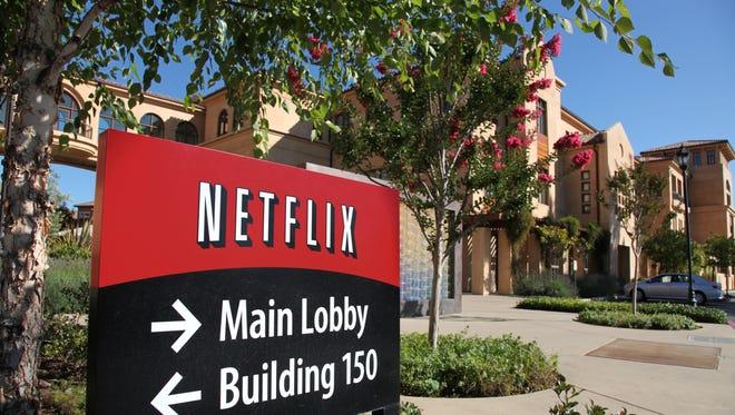 Netflix corporate headquarters in Los Gatos, Calif.