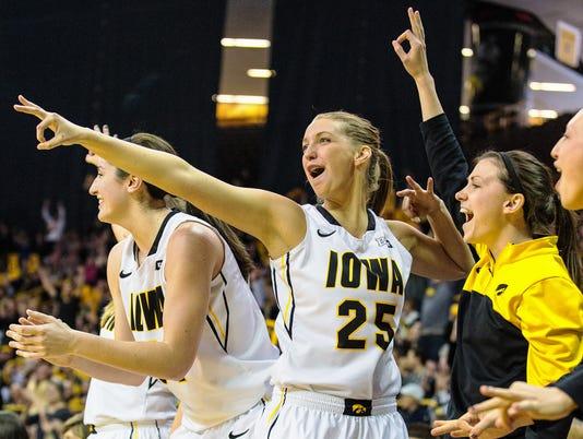 PC - Women's Basketball, Iowa vs Minn, March 1, 2015
