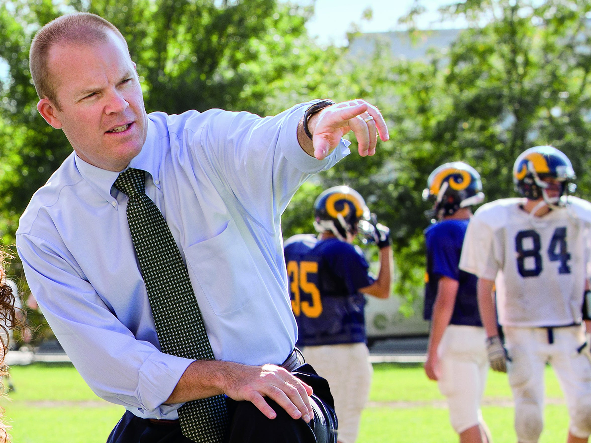 Dr. Michael McCrea, a professor and director of brain injury research at the Medical College of Wisconsin, is seen at Marquette University High School in 2012, the site of one of his previous research studies. McCrea is one of the principal investigators in a study of the effects of concussions on tens of thousands of NCAA athletes and military cadets.