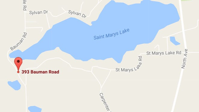A sewage spill occurred Tuesday near 393 Bauman Road in Bedford Township.