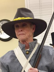 Linda Coleman portrays Confederate Calvary member Mary Ann Clark, who enlisted under the name Henry Clark.