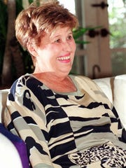 Columnist Erma Bombeck is shown in this October 1993 file photo at her home in Phoenix. Bombeck died in 1996 in San Francisco where she had undergone a kidney transplant. She was 69.