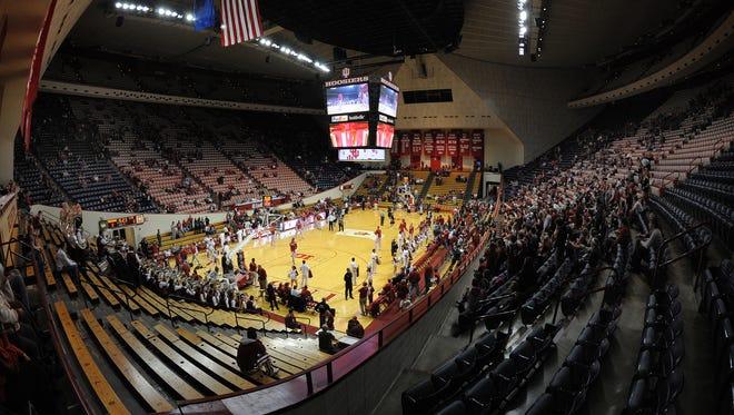 Assembly Hall before a game this season against LIU Brooklyn.  Matt Kryger / The Star @mattkryger