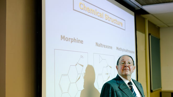 """Dr. Jonathan Moss worked on a University of Chicago animal study that examined the use of opioids while treating cancer. The study saw a twofold increase in tumor growth in lung cancer and a 20-fold increase in that cancer spreading. """"There is no evidence that opioids cause cancer,"""" he said, """"but there is animal and human evidence that commonly used opioids are associated with tumor progression in certain tumors, including advanced prostate cancer."""""""