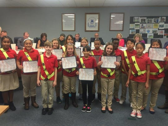 The D'Ippolito Elementary School safety patrol received