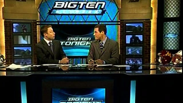 Taping a show for the Big Ten Network