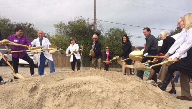 Mission of Mercy officials broke ground on a new clinic on Ayers Street and Baldwin Boulevard Dec. 13, 2016.