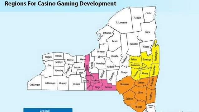 Regions for casino gaming development.