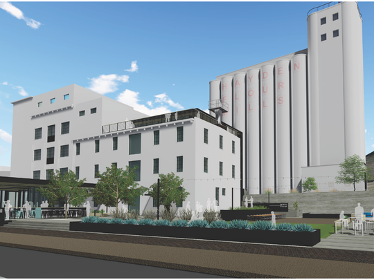 A rendering of what the redevelopment of the Hayden