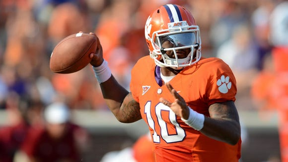 Former Clemson quarterback Tajh Boyd helped the Tigers