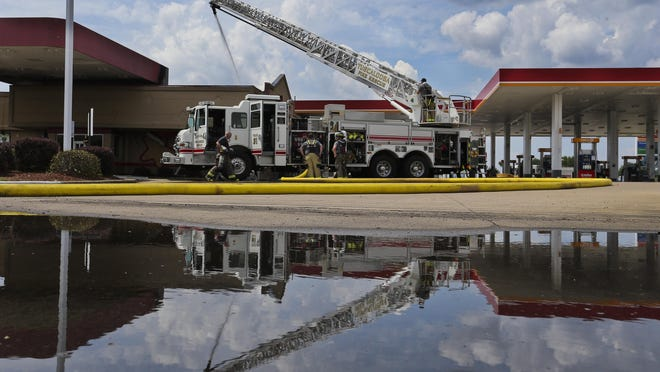 A fire during the lunch hour gutted the Hardee's Restaurant at the corner of Highway 69 south and Bear Creek Road Tuesday, June 2, 2020.