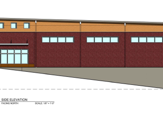 Artist's conception of proposed downtown brewery expansion