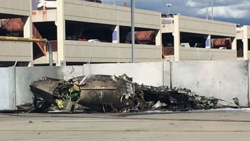 Two people were killed when a private plane crashed during takeoff at Tucson International Airport on Jan. 23, 2017.